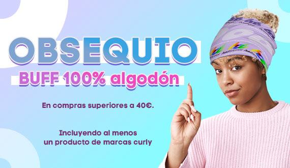 Consigue un Buff 100% en pedidos superiores a 40€ y que incluya al menos un producto de marcas curly