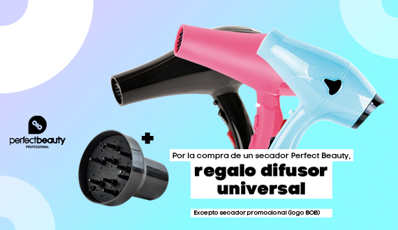 Secador Perfect Beauty con disfusor de regalo